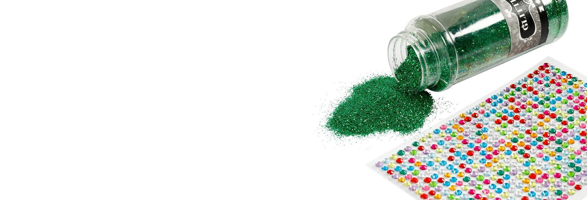 Glitter, folie en zegels