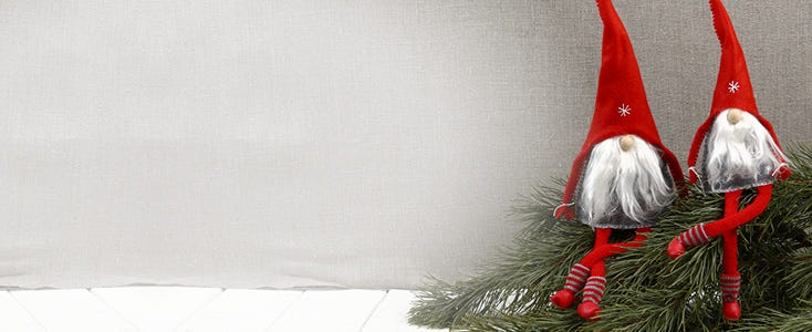 Peres Noel Et Lutins Faits Maison Decorations De Noel
