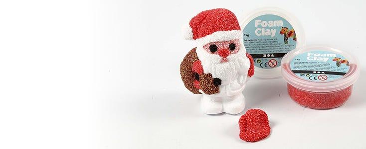 Kerstdecoraties met Foam Clay en Silk Clay