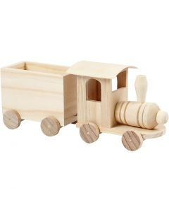 Speelgoed rein met wagon, H: 9,5 cm, L: 21,5 cm, B: 6,5 cm, 1 stuk