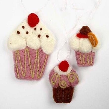 Cupcakes van wolvilt