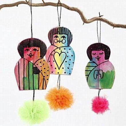 Chinese meisjes met pom-poms
