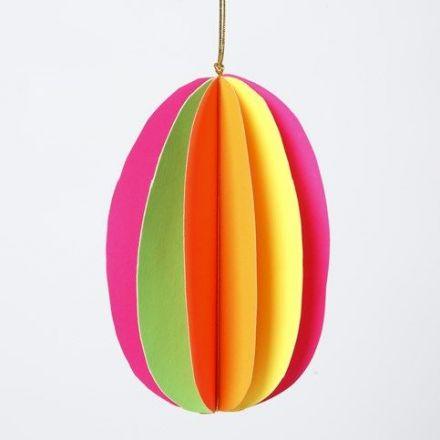 Een 3D ei in neon