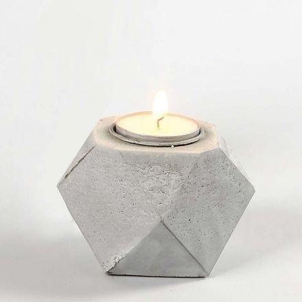 Lage waxinelichthouder van Concrete Craft betonmix