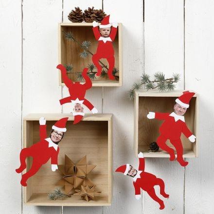 Gepersonaliseerde decoratieve Elfen met foto's van je familie