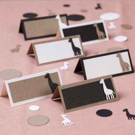 Plaatskaarten met giraffen