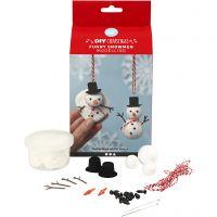 Grappige sneeuwpoppen, 1 set