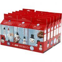 Schattige en grappige sneeuwpoppen, 18 set/ 1 doos