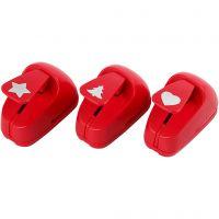 Ponsen, ster, hart, kerstboom, afm 16 mm, rood, 1 set