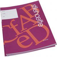 Werkboek met gelinieerd papier, A4, afm 21x29,7 cm, 32 , 25 stuk/ 1 doos