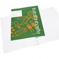 Werkboek met afbeeldingsruimte, A4, afm 21x29,7 cm, 32 , 25 stuk/ 1 doos
