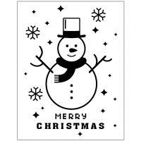 Embossing Folder , sneeuwpop, d: 11x14 cm, dikte 2 mm, 1 stuk