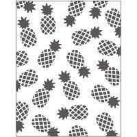 Embossing Folder , ananas, afm 11x14 cm, dikte 2 mm, 1 stuk