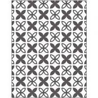 Embossing Folder , bladeren, afm 11x14 cm, dikte 2 mm, 1 stuk