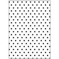 Embossing Folder , stippen, afm 13x18,5 cm, dikte 2 mm, 1 stuk
