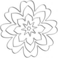 Snijmal, bloem, d: 0,5-8 cm, 1 stuk