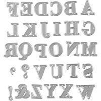Snijmal, alfabet, afm 2x1,5-2,5 cm, 1 stuk