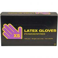 Latex handschoenen, afm x-small , 100 stuk/ 1 doos