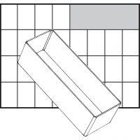 Inzet Box, afm A8-2, H: 47 mm, afm 157x55 mm, 1 stuk
