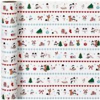 Inpakpapier, polar fun, B: 70 cm, 80 gr, 4 m/ 1 rol