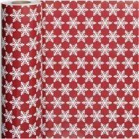 Inpakpapier, ijskristallen, B: 50 cm, 80 gr, 100 m/ 1 rol