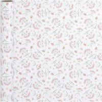 Inpakpapier, bloemen, B: 50 cm, 80 gr, 5 m/ 1 rol