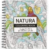 Kleurboek, Natura, afm 19,5x23 cm, 64 , 1 stuk