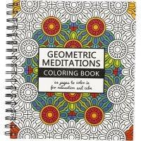 Kleurboek, Geometric, afm 19,5x23 cm, 64 , 1 stuk