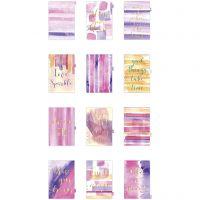 Index divider, A5, 12 , goud, paars, roze, 1 stuk/ 1 doos