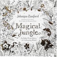 Kleurboek, Magical Jungle, afm 25x25 cm, 80 , 1 stuk