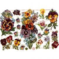 Vintage plaatjes, bloemen, 16,5x23,5 cm, 3 vel/ 1 doos