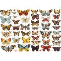 Vintage plaatjes, vlinders, 16,5x23,5 cm, 2 vel/ 1 doos