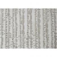 Perkamentpapier met Muzieknoten, Muzieknoten, A4, 210x297 mm, 115 gr, 10 vel/ 1 doos