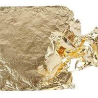 Imitatie bladmetaal, 16x16 cm, goud, 25 vel/ 1 doos, 0,625 m2