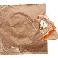 Imitatie bladmetaal, 16x16 cm, koper, 25 vel/ 1 doos, 0,625 m2