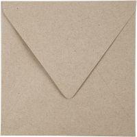 Gerecyclede Enveloppen, afmeting envelop 16x16 cm, 120 gr, naturel, 50 stuk/ 1 doos