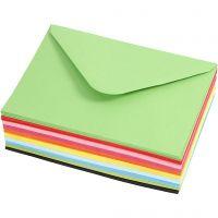 Gekleurde Enveloppen, afmeting envelop 11,5x16 cm, 80 gr, 10x10 stuk/ 1 doos