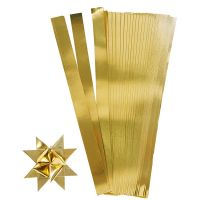 Vlechtstroken, L: 45 cm, B: 10 mm, d: 4,5 cm, goud, 100 stroken/ 1 doos