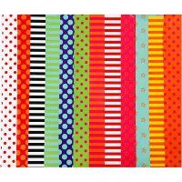Glanspapier, bedrukt, 24x32 cm, 80 gr, diverse kleuren, 50 div vellen/ 1 doos