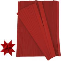 Vlechtstroken, L: 45 cm, B: 10 mm, d: 4,5 cm, rood, 500 stroken/ 1 doos