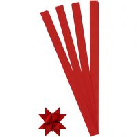 Vlechtstroken, L: 45 cm, d: 6,5 cm, B: 15 mm, rood, 100 stroken/ 1 doos