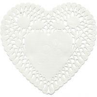 Cake servetten, hart, d: 10 cm, 30 stuk/ 1 doos