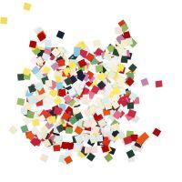 Karton mozaiek, vierkant, afm 10x10 mm, 180 gr/ 1 doos