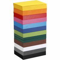 Gekleurd karton, A6, 105x148 mm, 180 gr, diverse kleuren, 12x100 vel/ 1 doos