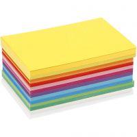 Lente karton, A6, 105x148 mm, 180 gr, diverse kleuren, 120 div vellen/ 1 doos