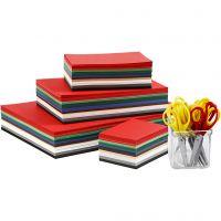 Kerst karton, A3,A4,A5,A6, 180 gr, diverse kleuren, 1 set