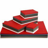 Kerst karton, A2,A3,A4,A5,A6, 180 gr, diverse kleuren, 1800 div vellen/ 1 doos