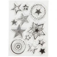 Silicone stempels, sterren, afm 10,5x15 cm, 1 vel