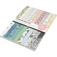 Papierblok met handgemaakt papier, A4, 210x297 mm, 110 gr, 20 vel/ 1 doos