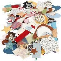 Vormen van handgemaakt papier, afm 25-130 mm, 110 gr, 100 gr/ 1 doos